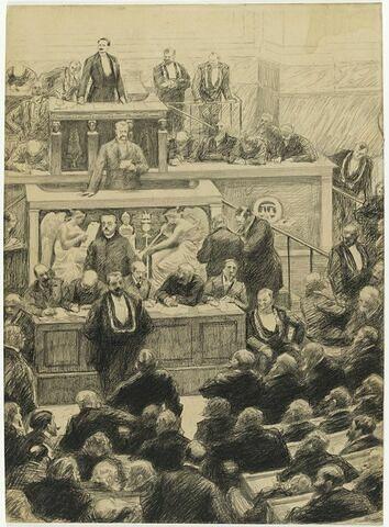 Les Présidents Deschanels et Waldeck-Rousseau à la Chambre des Députés.
