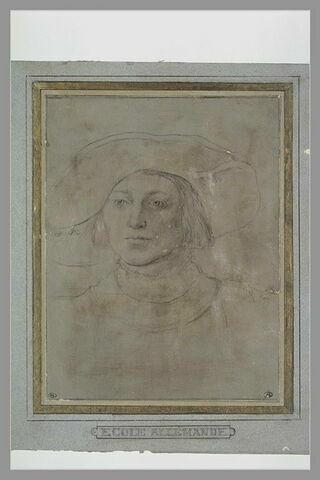 Portrait d'homme, vu de trois quarts, de face