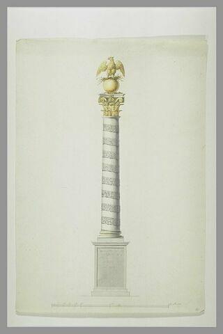 Elévation : projet de colonne monumentale à la mémoire de Napoléon Ier