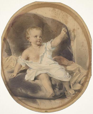 Etude, portrait présumé de sa fille Marie enfant