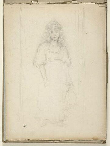 Portrait de fillette en pied, vue de face