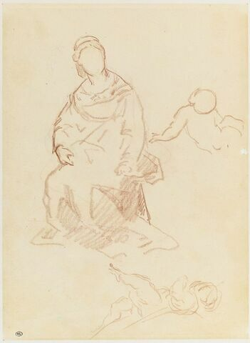 Servante tenant la Vierge sur ses genoux