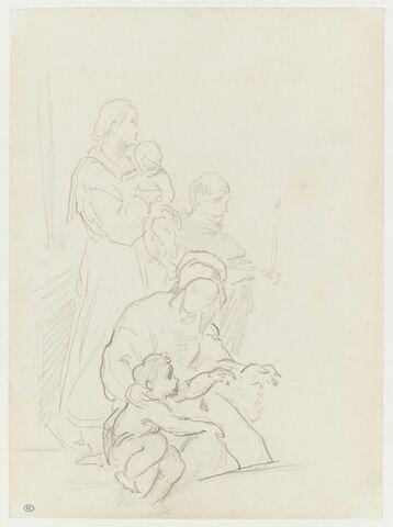 Trois personnages avec deux enfants