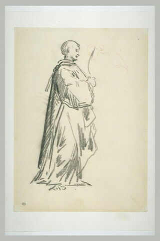 Homme drapé debout, tourné vers la droite : Saint Etienne
