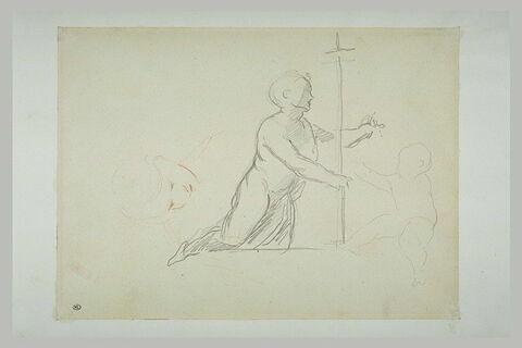 Saint Jean-Baptiste ; un enfant ; étude de visage