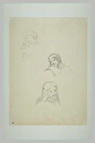Trois têtes d'homme