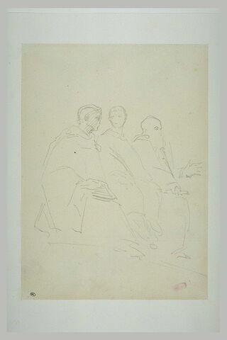Saint Maur, saint Placide et saint Benoit, assis