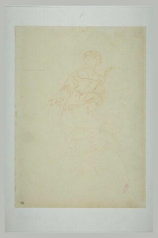Deux servantes dont une tenant la Vierge sur ses genoux