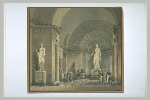 Vue de la salle dite de Melpomène au Louvre