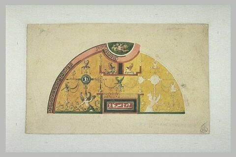 Eléments décoratifs de style pompéien vers 1800