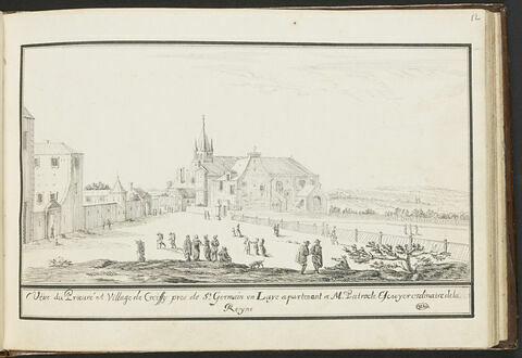 Vue du prieuré du village de Croissy