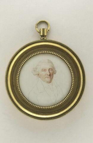 Portrait d'homme âgé, en buste, Germain Du Cruet, beau-père d'Augustin