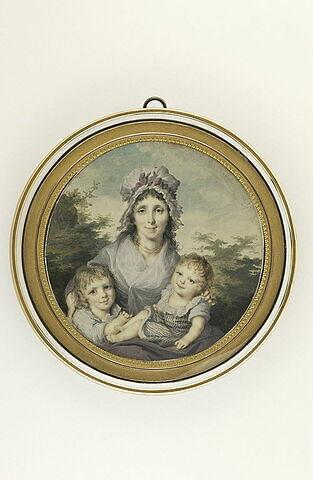 Une mère et ses deux enfants