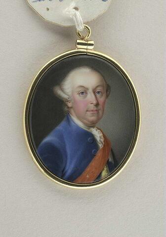Portrait d'homme portant le cordon rouge d'un ordre