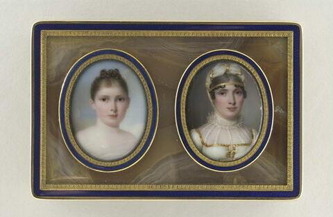 Portraits de Maria-Anna Bonaparte dite Elisa Baciocchi et de sa fille Napoléone Elisa