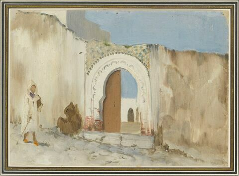 Entrée de ville au Maghreb