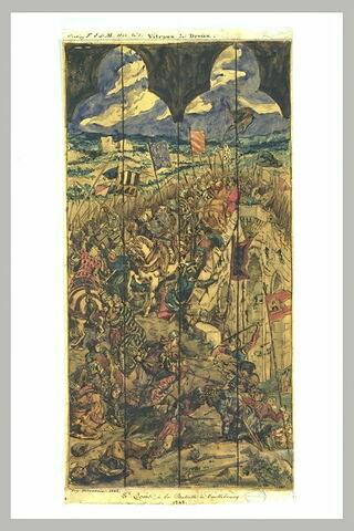 Saint Louis à la bataille de Taillebourg