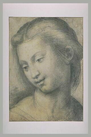 Etude pour la tête de la Vierge