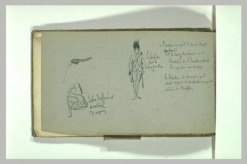 Soldat ; détail d'armement et d'uniforme