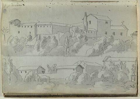 Vue des environs du Colisée, à Rome