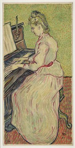 Portrait de mademoiselle Gachet au piano