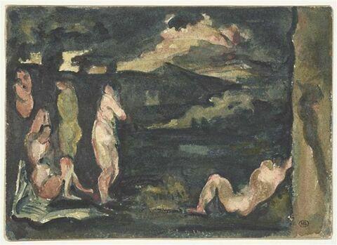 Groupe de baigneurs