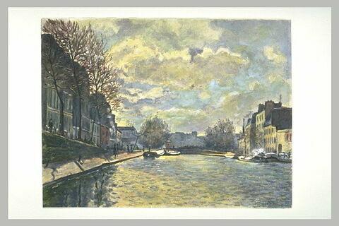 Vue du canal Saint-Martin