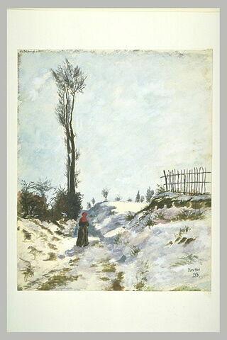 Paysage de neige, 'Chemin creux'