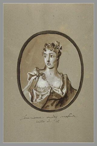 Portrait de Geneviève Oudry, soeur de l'artiste