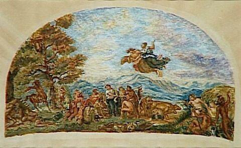 Orphée venant policer les grecs encore sauvages et leur enseigner les Arts..