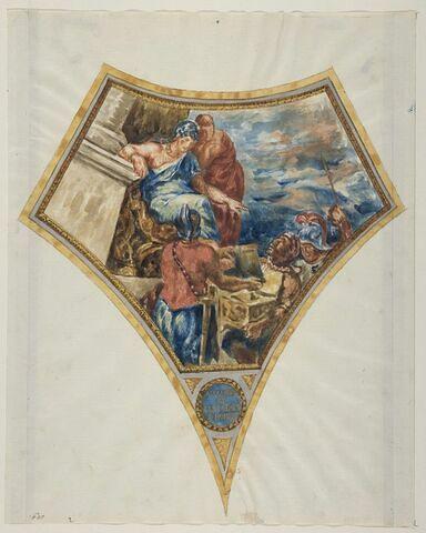 Alexandre faisant enfermer les poèmes d'Homère dans le coffre de Darius