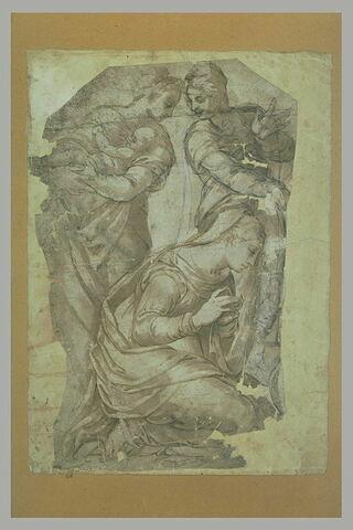 Etude pour une Adoration du Christ (?)