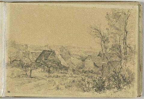 Hameau dans un paysage