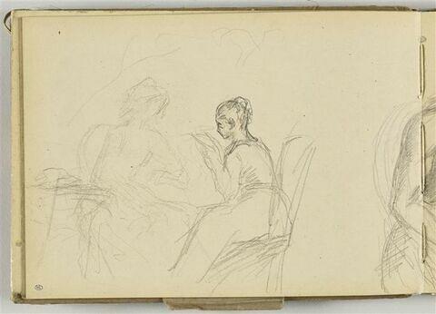 Deux jeunes femmes assises