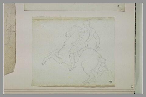 Homme nu, à cheval