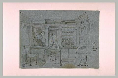 Intérieur avec bibliothèque
