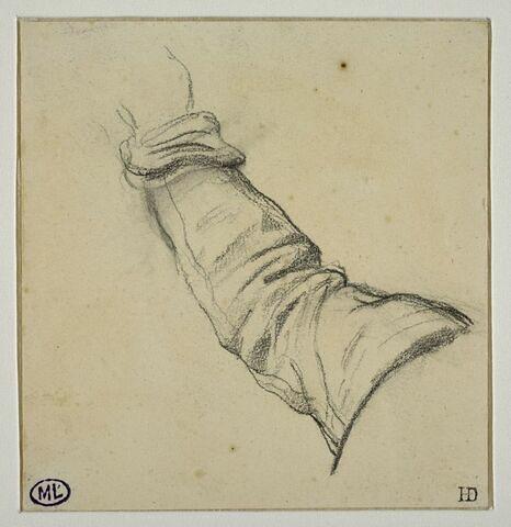 Etude pour un bras droit levé