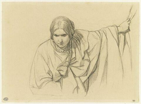 Etude d'une femme drapée à l'antique