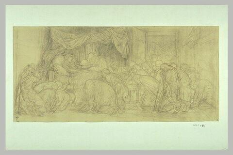 Etude pour 'la Mort de la Vierge' du Louvre