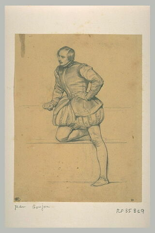Homme debout, la jambe droite pliée : Jean Goujon