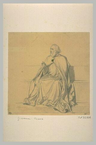 Homme assis, tourné vers la gauche : Giovanni Pisano