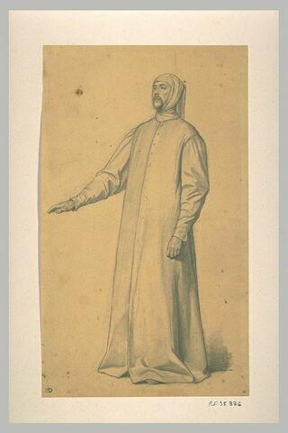 Etude d'un homme debout, le bras droit tendu