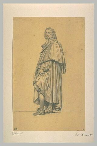 Homme debout, tourné vers la gauche: Nicolas Poussin