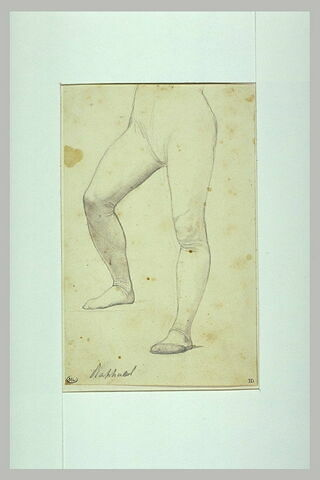 Etude de jambes de la figure de Raphaël