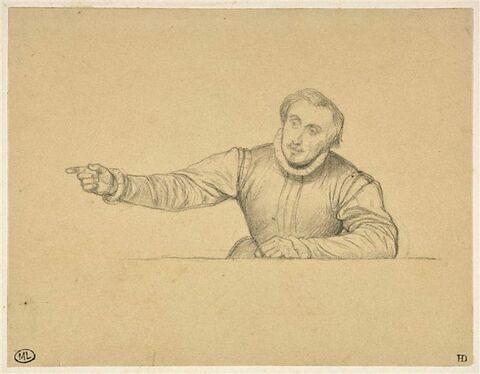 Homme en costume Renaissance, vu en buste, de face