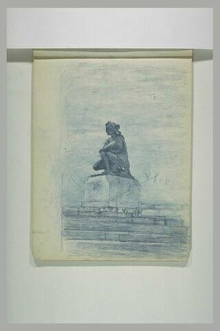 Croquis d'aprés la sculpture de Coysevox : ' Diane accroupie'