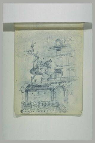 Statue de Jeanne d'Arc, place des Pyramides