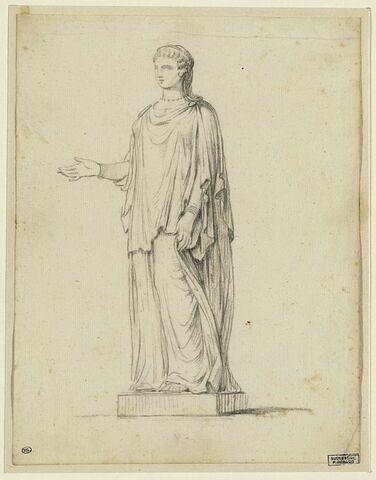 Etude d'après une statue antique