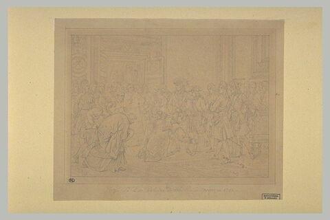 Louis XIV déclarant le duc d'Anjou, roi d'Espagne