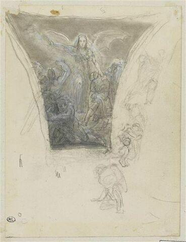 Etude pour un écoinçon du Panthéon : 'la Mort'
